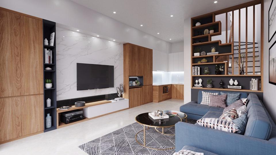 ngôi nhà được thiết kế theo phong cách hiện đại
