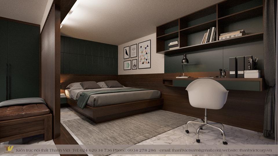 Trang trí phòng ngủ Master