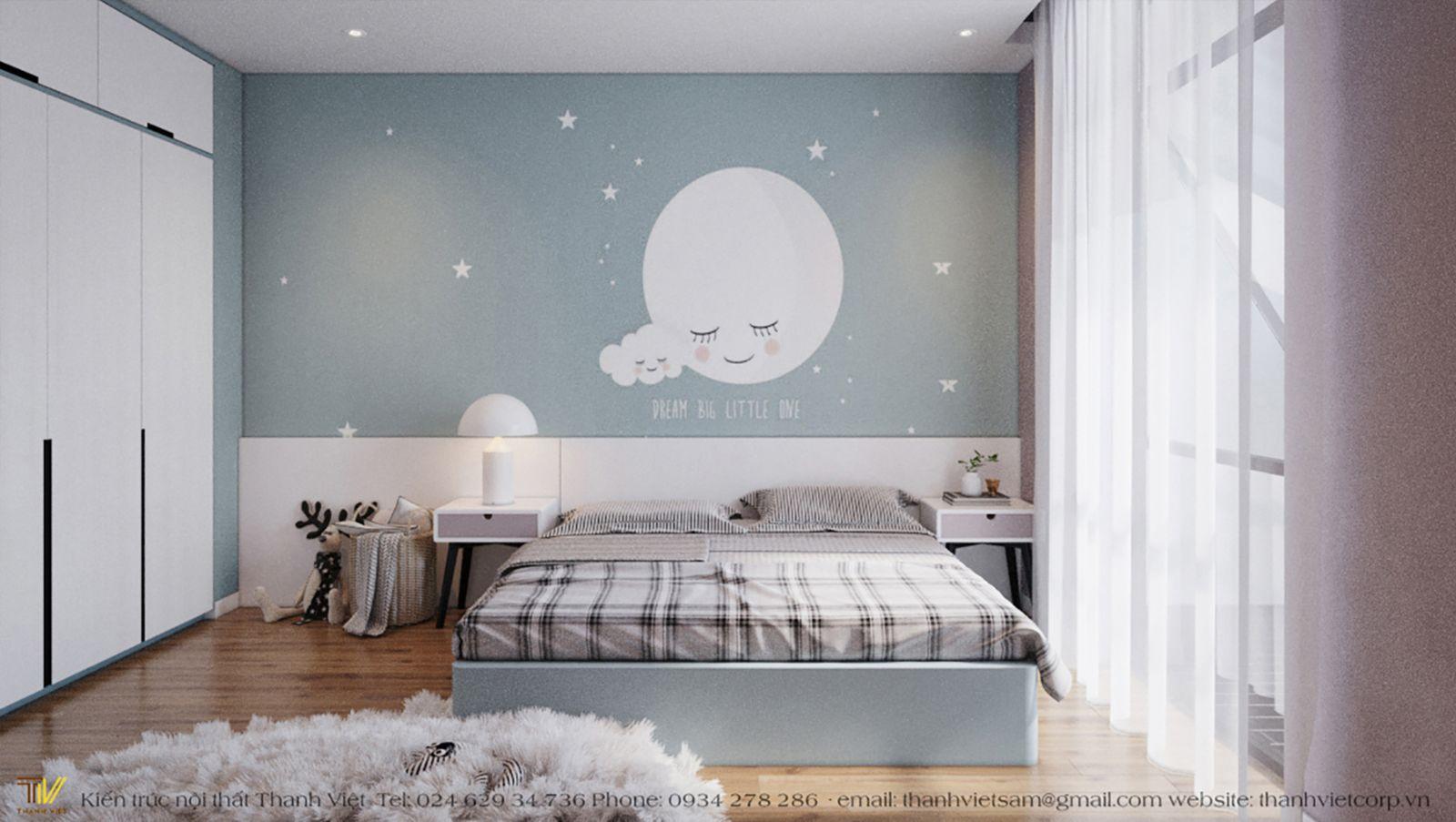 Trang trí phòng ngủ với họa tiết tròn