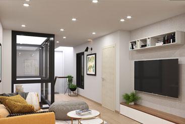 Sang chảnh thiết kế nội thất nhà phố Bắc Từ Liêm