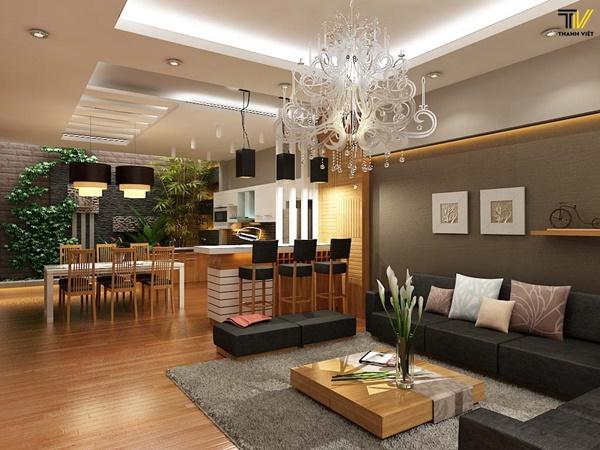 Ưu điểm của nội thất phòng khách cao cấp bằng gỗ
