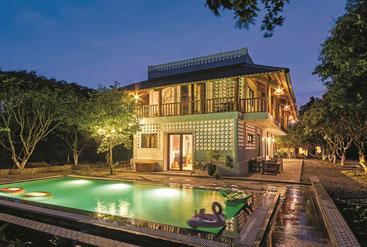 Ngôi nhà hiện đại pha lẫn nét kiến trúc bản địa