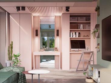 Bí quyết trang trí phòng khách màu hồng khiến vạn người mê