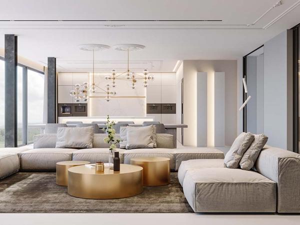 4 bước thiết kế nội thất phòng khách sang trọng, hợp lý