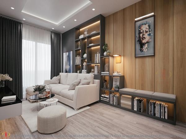 Thiết kế nội thất căn hộ cao cấp phong cách hiện đại nhà anh Phi