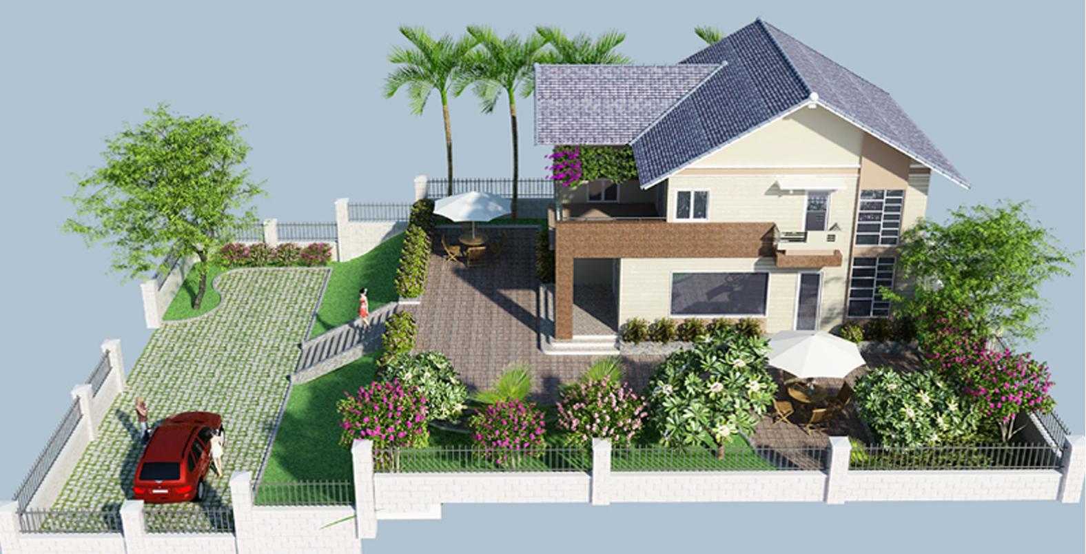 Phong thủy thiết kế kiến trúc nhà vườn cần chú ý