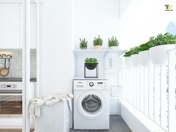 Vị trí đặt máy giặt trong thiết kế phong thủy nhà ở