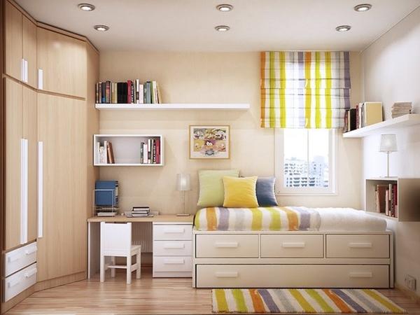 Mẹo nhỏ thiết kế nội thất phòng ngủ nhỏ đơn giản, hài hòa