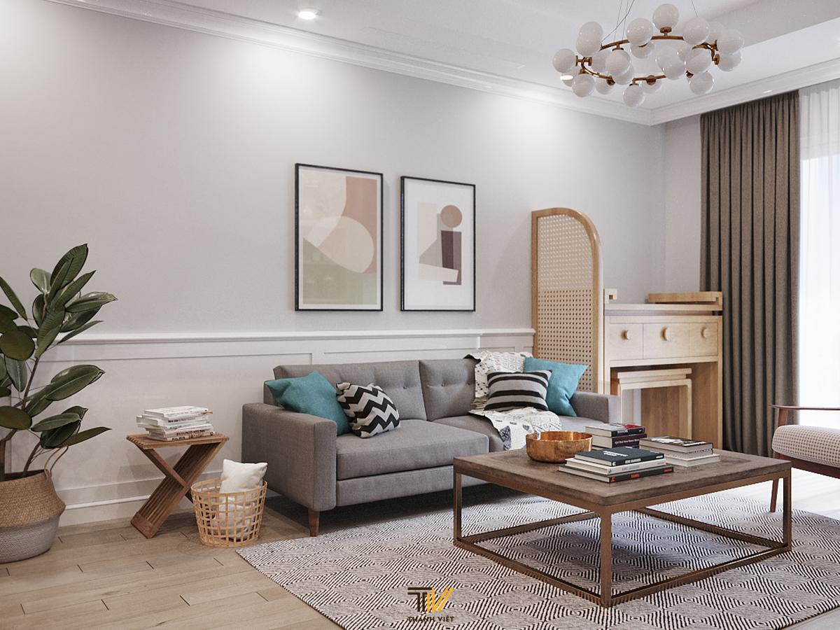 """Phong cách modern farmhouse ghi """"dấu ấn"""" trong thiết kế nội thất căn hộ Royal City"""