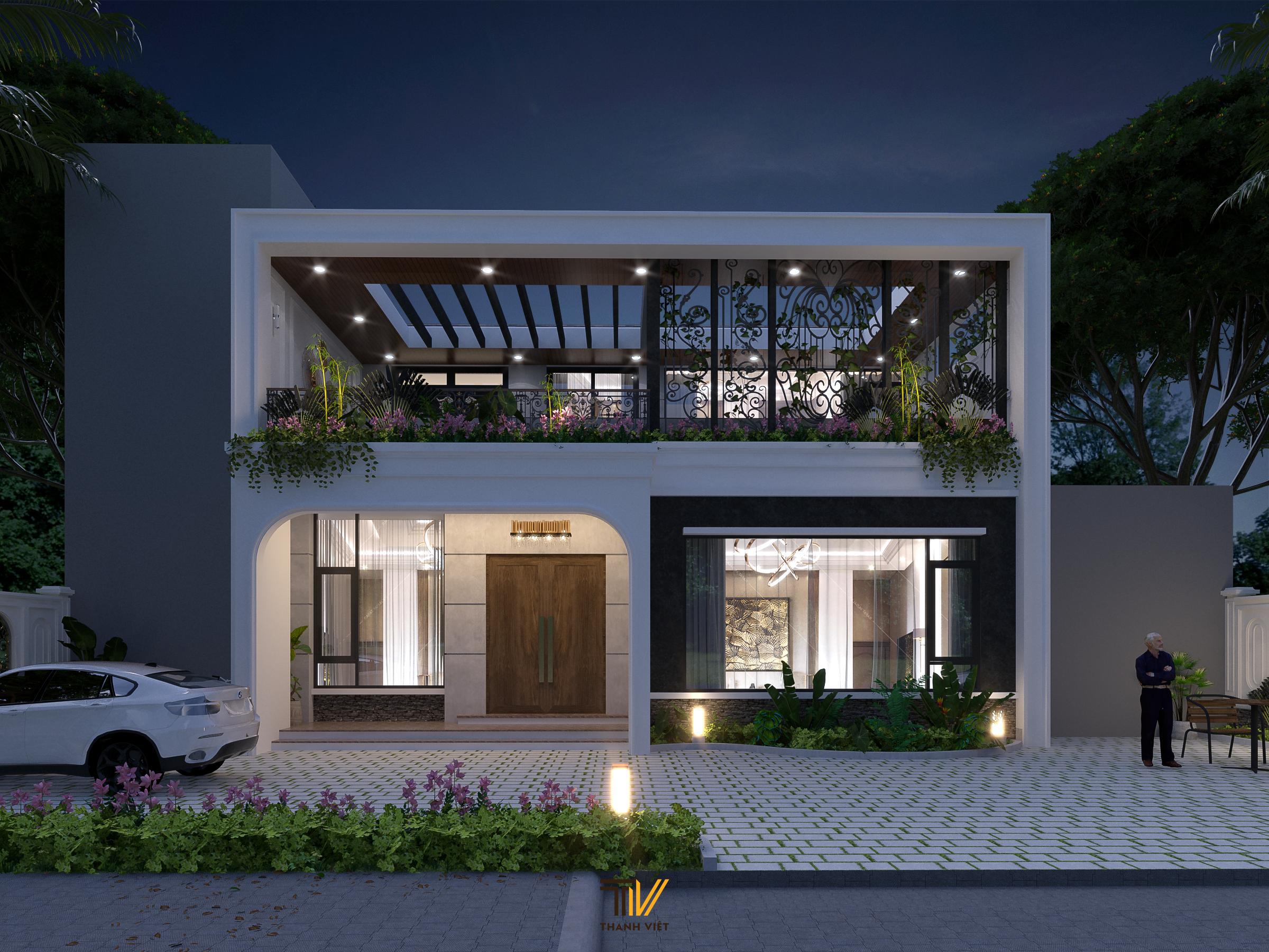 Thiết kế kiến trúc Villa 2 tầng có bể bơi trong nhà độc đáo tại Phú Thọ!