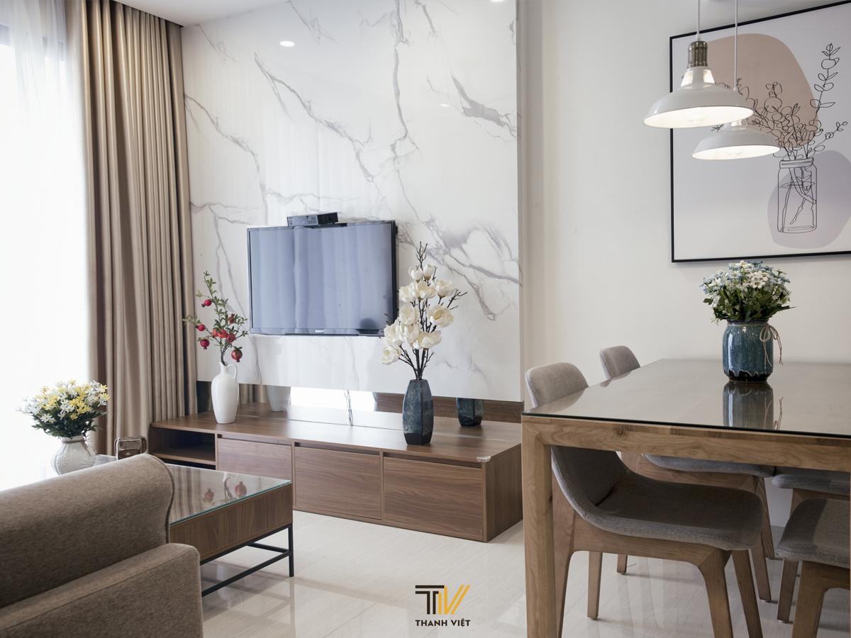 Thiết kế và Thi công hoàn thiện nội thất chung cư Vinhomes Ocean Park phong cách hiện đại