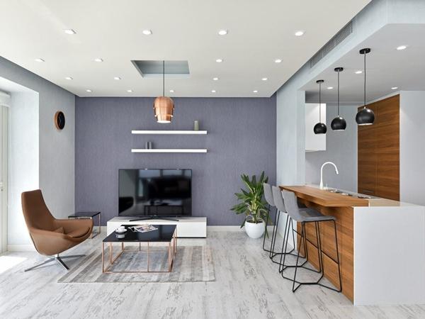Thiết kế căn hộ cao cấp đơn giản tinh tế cho gia đình bạn