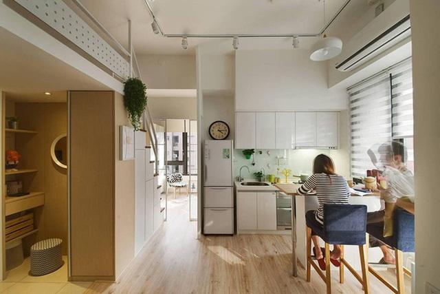 Biến căn hộ 30m2 chật hẹp, tối tăm như rộng gấp đôi sau cải tạo.
