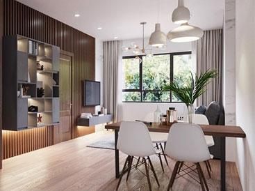 Nhẹ nhàng, ấm cúng với căn hộ rộng hơn 50m2