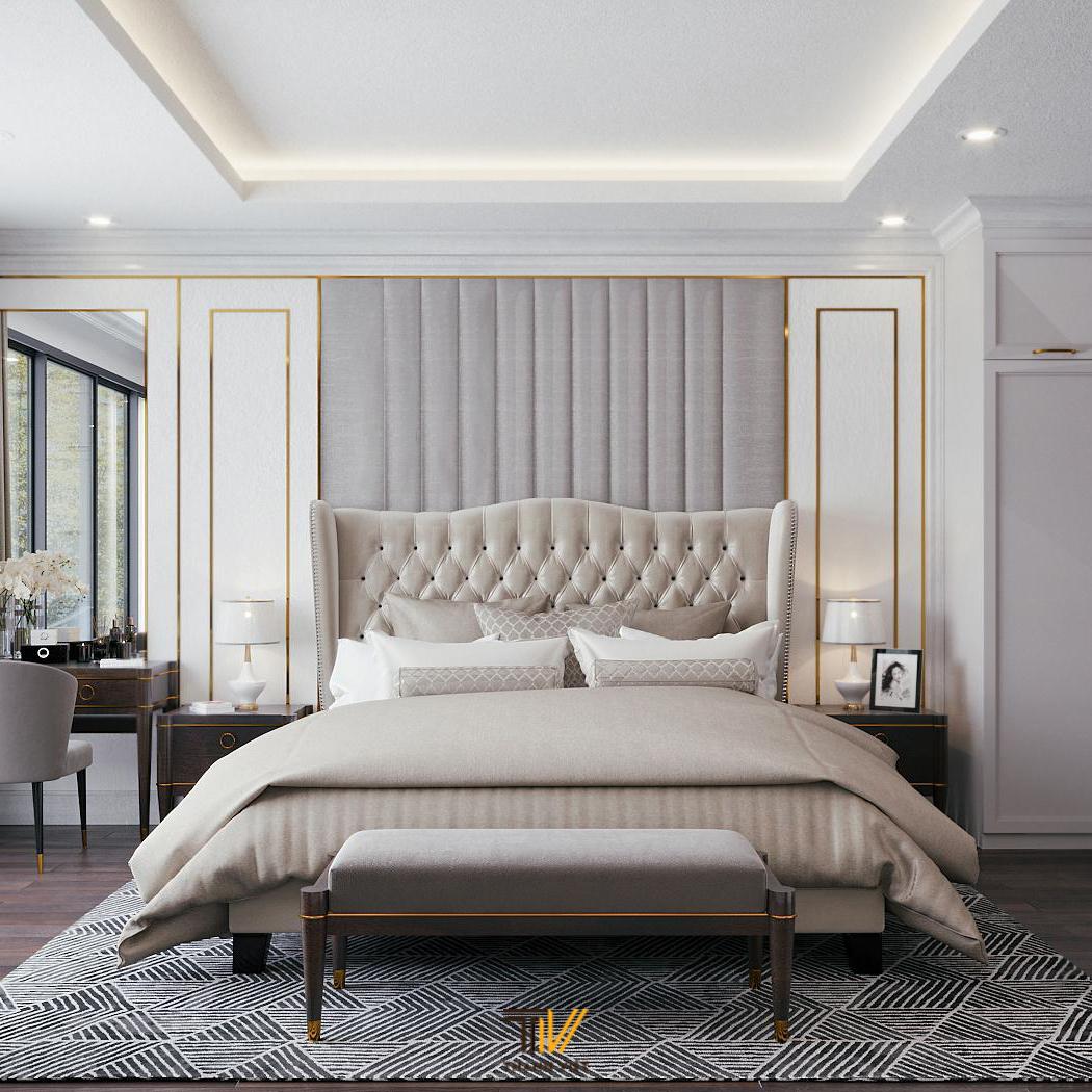 Thiết kế nội thất liền kề phong cách tân cổ điển Tinh Xảo